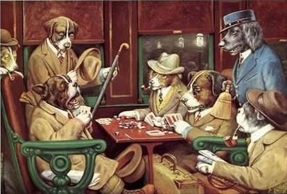 His Station and Four Aces (poker at train station)