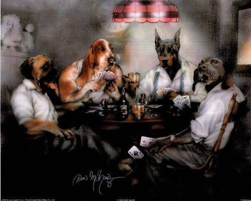 Poker By Dan Mcmanis Dogsplayingpoker Org