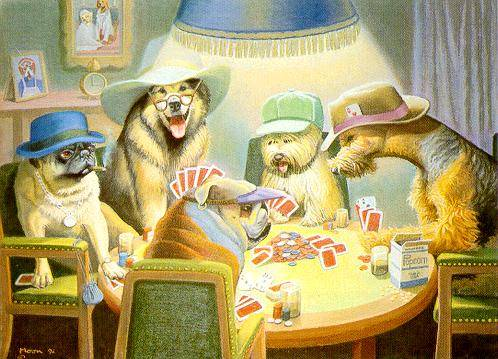 Card Players By Bryan Moon Dogsplayingpoker Org