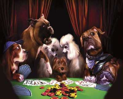 """The Cheat"" by Gerard Taylor - DogsPlayingPoker.org"