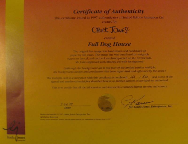 """Full Dog House"" by Chuck Jones - DogsPlayingPoker.org"