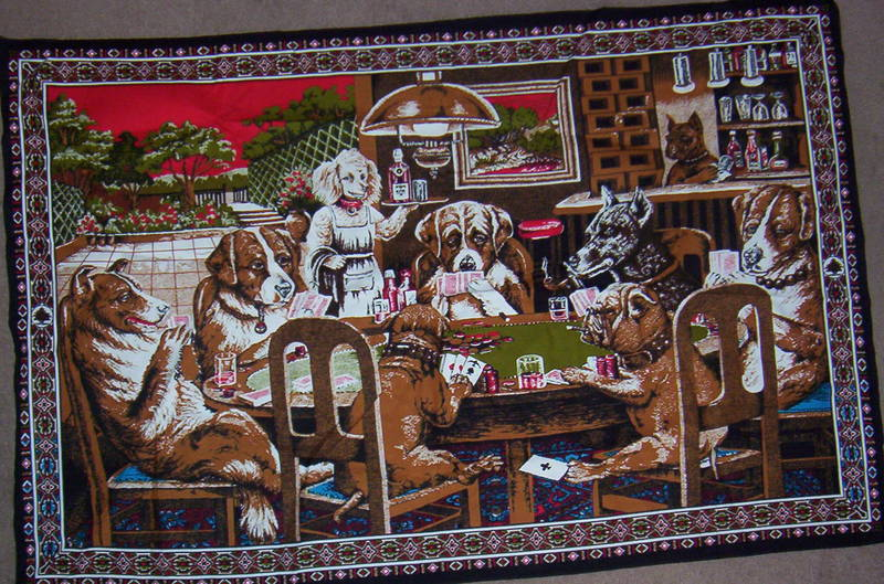 and cheesy dogs playing poker wall tapestries.